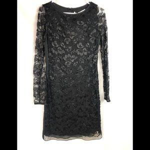 NWT Diane Von Furstenberg black lace dress